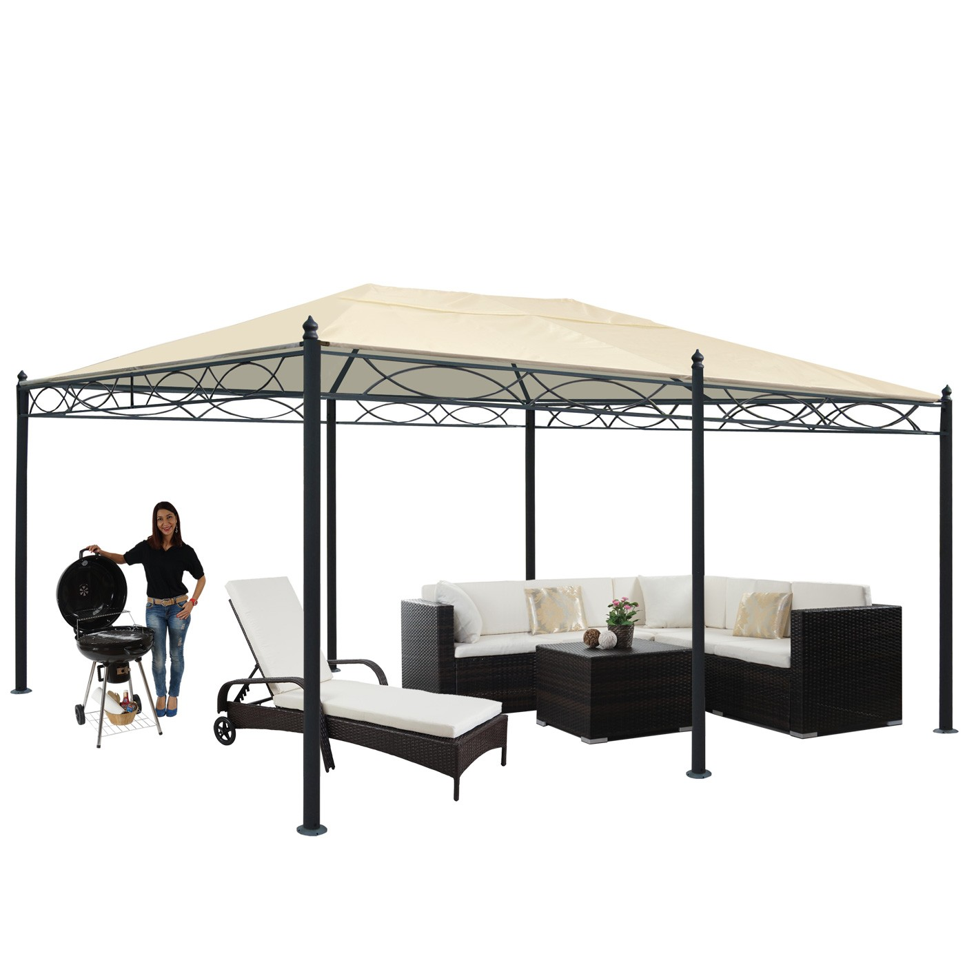 pergola cadiz garten pavillon stabiles 7cm gestell 5x3m. Black Bedroom Furniture Sets. Home Design Ideas