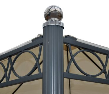 Pergola Gartenpavillon, stabiles 10cm Luxus-Alu-Gestell – Bild 5