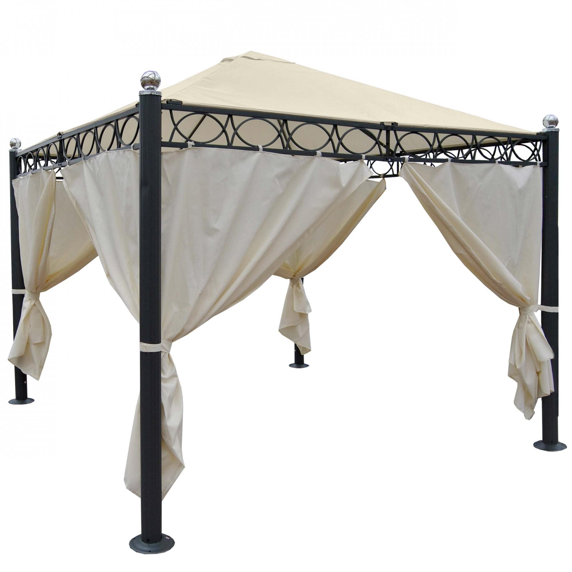 pergola gartenpavillon stabiles 10cm luxus alu gestell. Black Bedroom Furniture Sets. Home Design Ideas