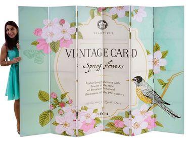 Foto-Paravent Vintage, Paravent, Spring Flowers – Bild 4