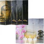 Foto-Paravent Buddha, Paravent Trennwand 180x200 cm - 10296