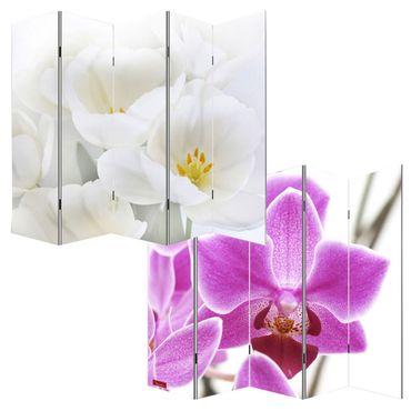 Foto-Paravent Paravent Raumteiler – Orchidee 180x200cm