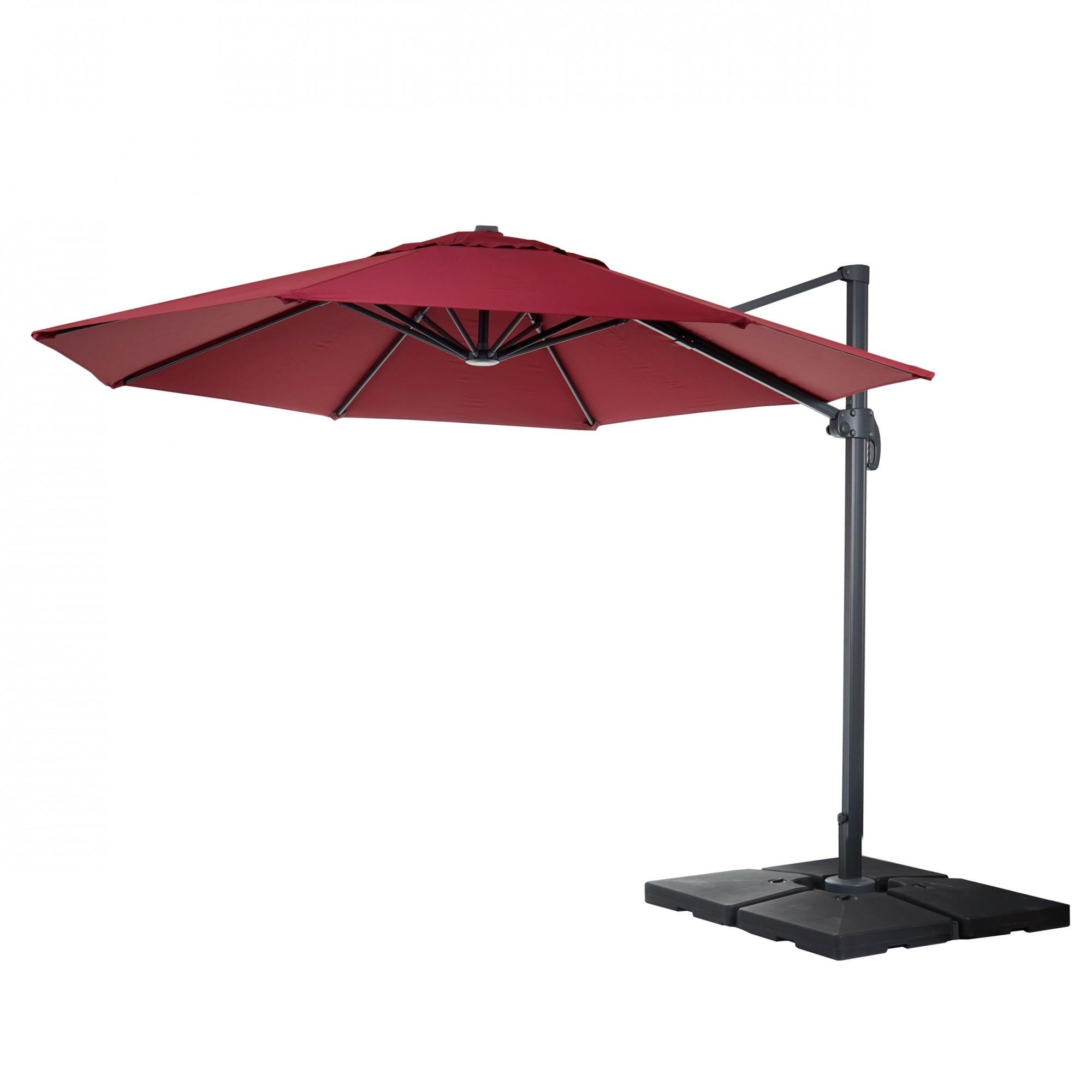 Sonnenschirm Garten Xxl Gastronomie luxus ampelschirm sonnenschirm ˜ 4m bordeaux mit