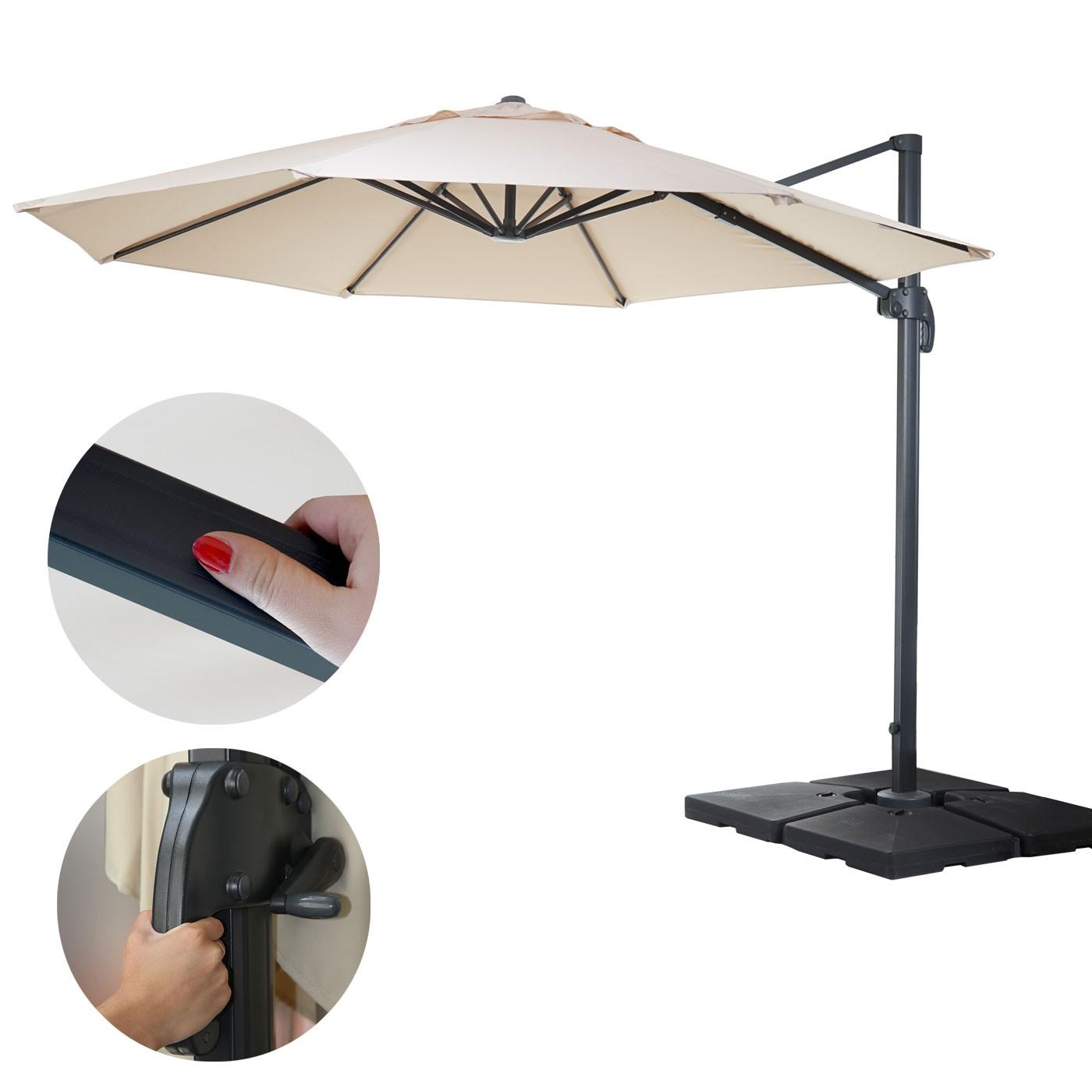 gastronomie luxus ampelschirm sonnenschirm 4m garten sonnenschirme und st nder ampelschirme. Black Bedroom Furniture Sets. Home Design Ideas