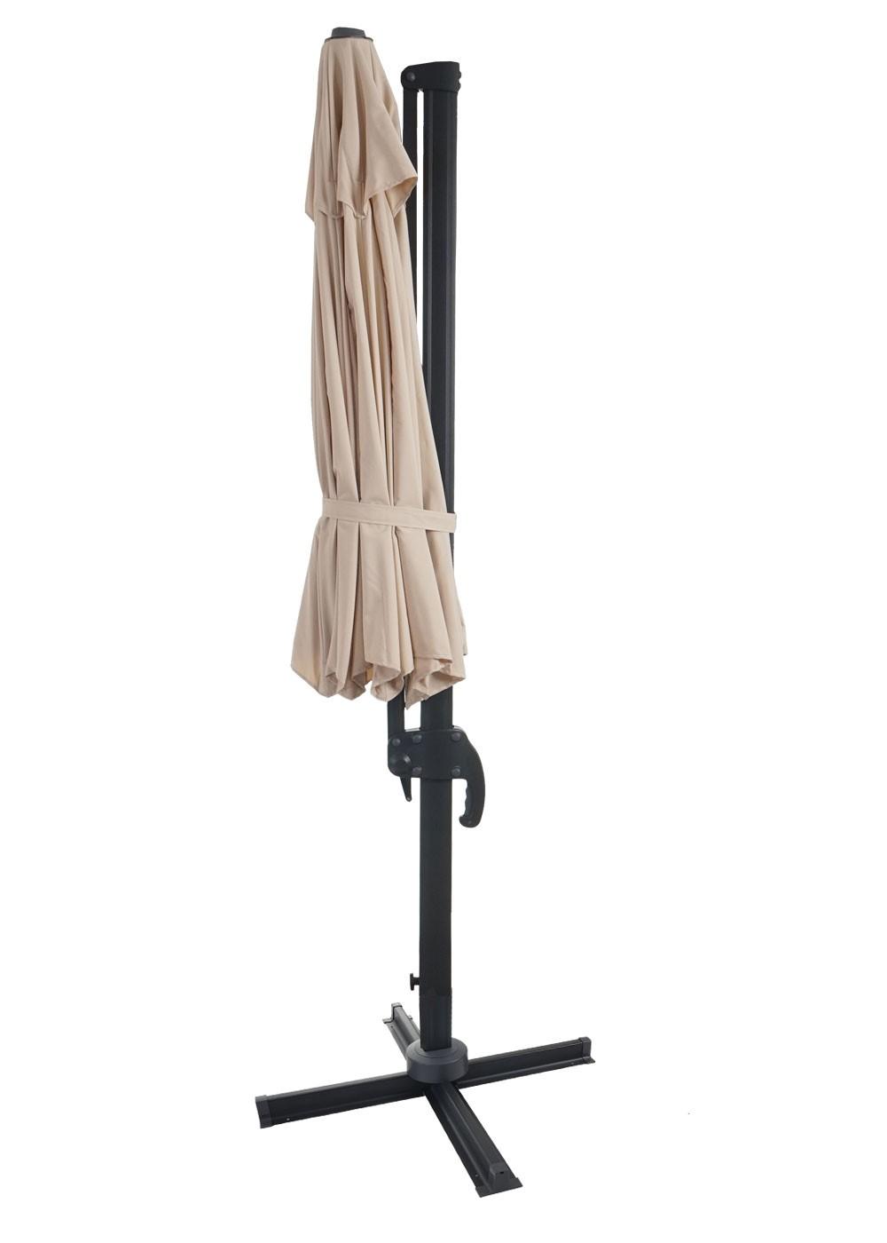 gastronomie luxus ampelschirm sonnenschirm 3 5m creme ohne st nder garten sonnenschirme und. Black Bedroom Furniture Sets. Home Design Ideas