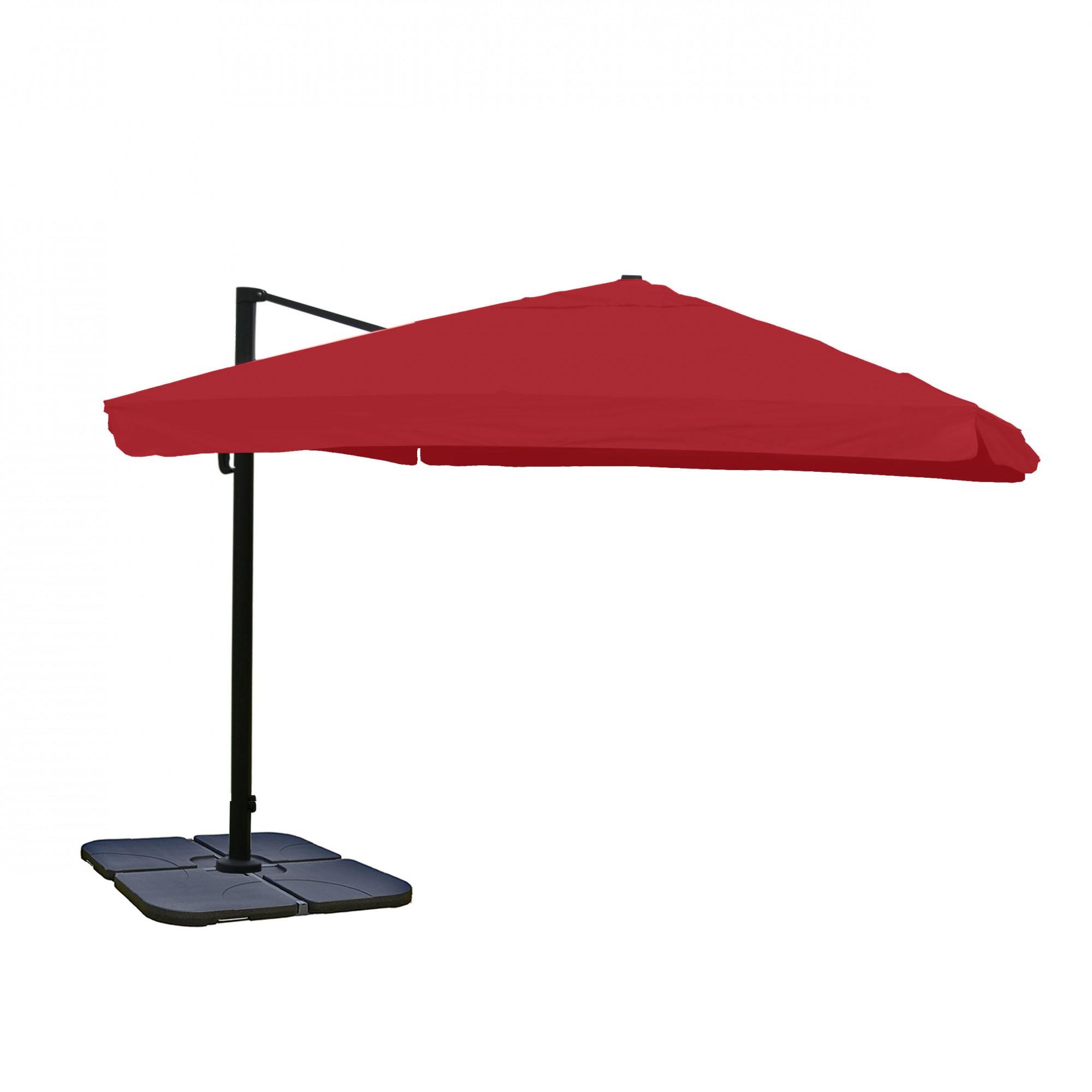 alu gastronomie luxus ampelschirm sonnenschirm 4 3 m bordeaux mit st nder garten sonnenschirme. Black Bedroom Furniture Sets. Home Design Ideas