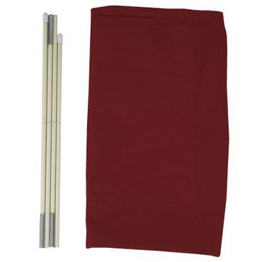 Schutzhülle für Ampelschirm bis 3,5 m, Abdeckhülle Cover mit Reissverschluss - bordeaux – Bild 5