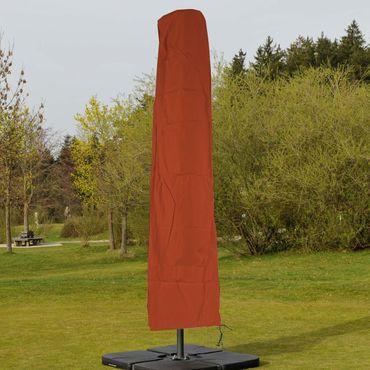 Schutzhülle für Ampelschirm bis 3,5 m, Abdeckhülle Cover mit Reissverschluss - terrakotta – Bild 2