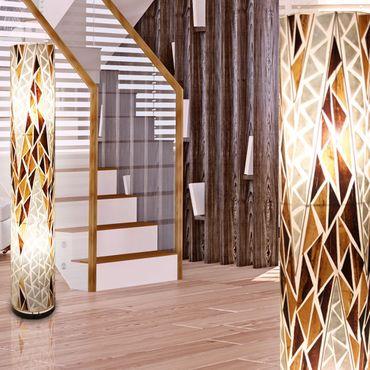 Stehlampe BALI, Muschel, Textil multicolor, Globo 25829 – Bild 1