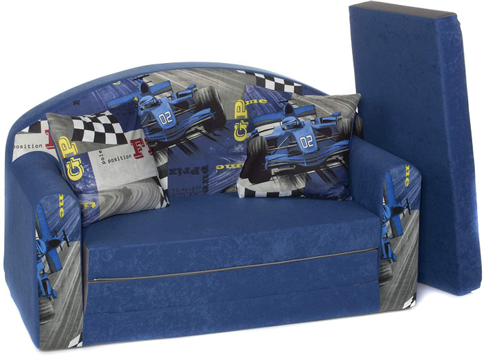 Kindersofa Spielsofa 3in1, 1RB RED Bull Navy