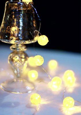 Lichterkette weiss, 20 LEDs warmweiss, Schalter – Bild 1