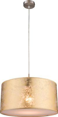 Hängelampe AMY, nickel matt, Textil goldfarben, Globo 15187H – Bild 1