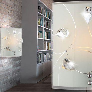 Wandlampe ALIVIA, nickel matt, Glas opal, Globo 40414-1W – Bild 5