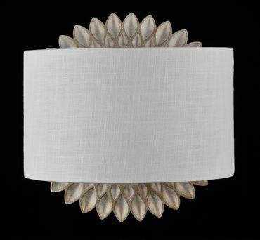 Wandlampe H301-01-G, creme gold