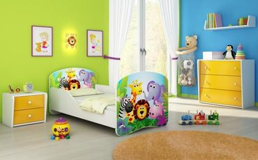 Kinderbett Jugendbett 70x140cm, viele Motive
