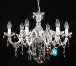 6 Arm Kronleuchter mit SPECTRA® Crystal von SWAROVSKI silber