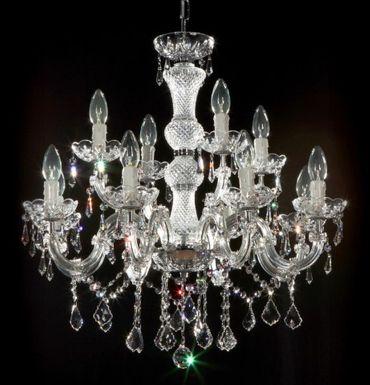 12 Arm Luxus Kronleuchter mit SPECTRA Crystal SWAROVSKI