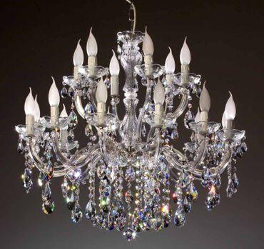 18 Arm Kronleuchter gefertigt mit SPECTRA® Crystal von SWAROVSKI, silber – Bild 1
