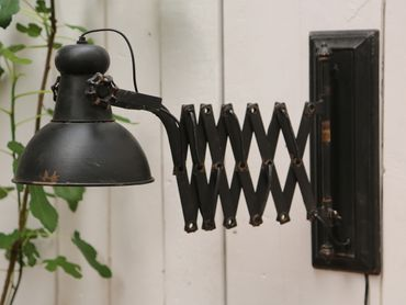 Wandlampe shabby chic ausziehbar – Bild 1