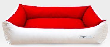 Hundebett zweifarbig, bicolor Kunstleder div. Grössen und Farben – Bild 6