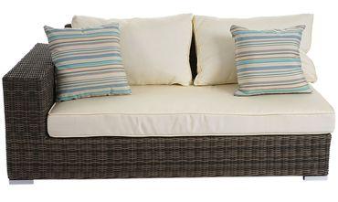 Luxus Poly-Rattan Sofa-Garnitur Melilla, Lounge-Set Gartengarnitur, Alu-Gestell – Bild 7