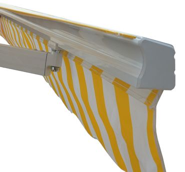 Alu-Markise, Sonnenstoren Gelenkarmmarkise Sonnenschutz 5x3m Polyester Terrakotta - 19555 – Bild 5