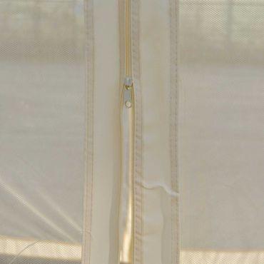 Pergola, Garten Pavillon, stabiles 7cm-Gestell mit Seitenwand + Moskitonetz creme 4x4m – Bild 4