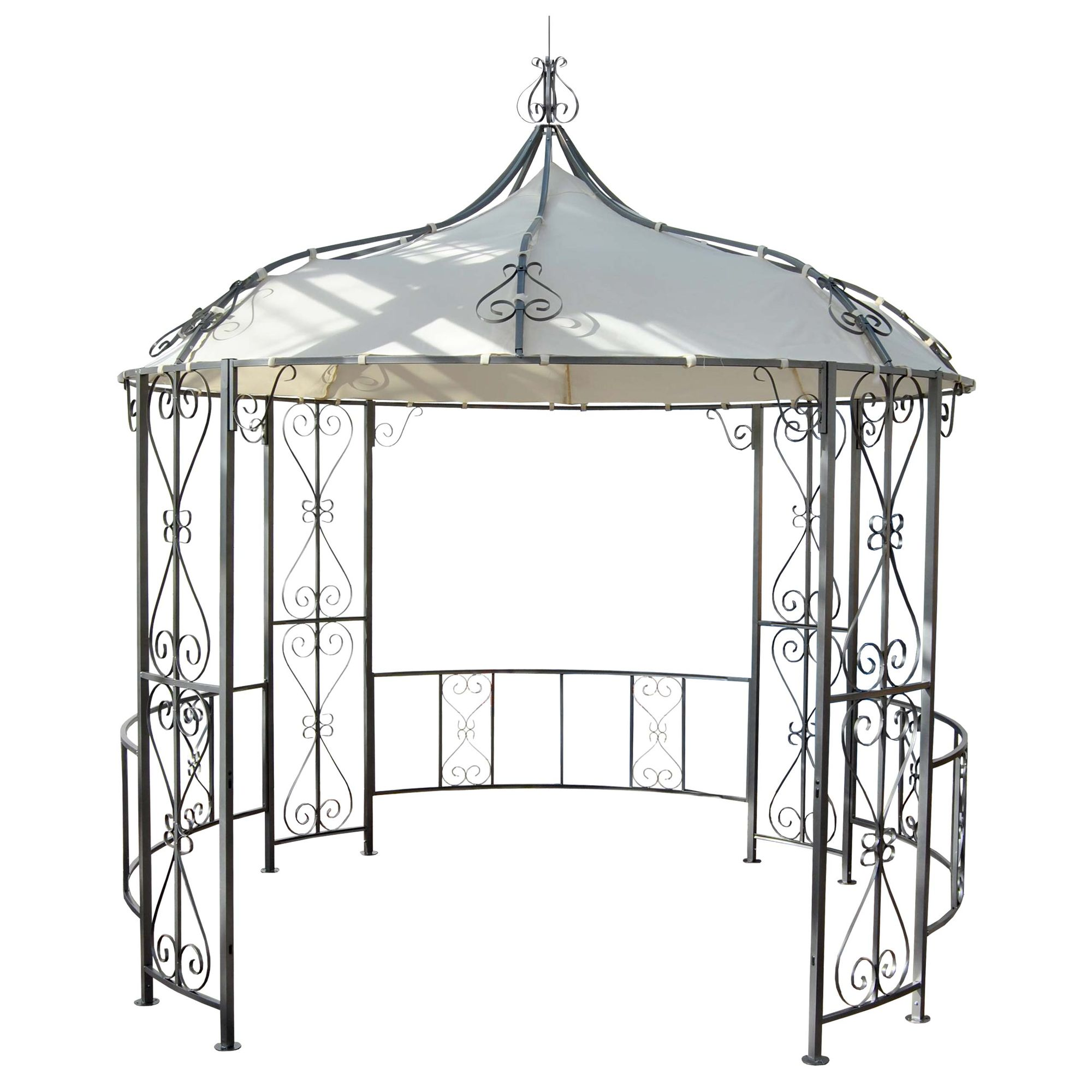 pergola rundpavillon garten pavillon stabiles stahl. Black Bedroom Furniture Sets. Home Design Ideas