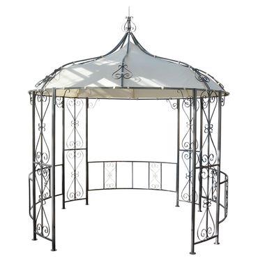 Pergola, Rundpavillon Garten Pavillon, stabiles Stahl-Gestell Ø 3m – Bild 2