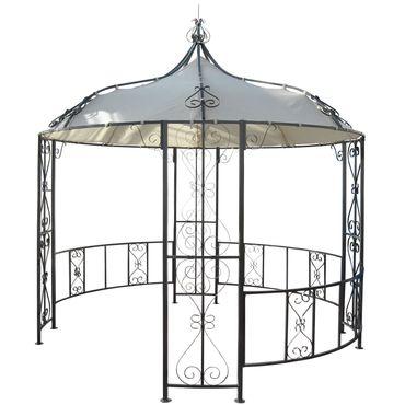 Pergola, Rundpavillon Garten Pavillon, stabiles Stahl-Gestell Ø 3m - 19603 – Bild 6