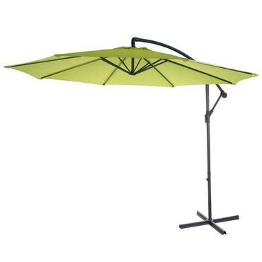 Semi-Profi Ampelschirm Acerra, Sonnenschutz, 3m neigbar grün-lemon ohne Ständer
