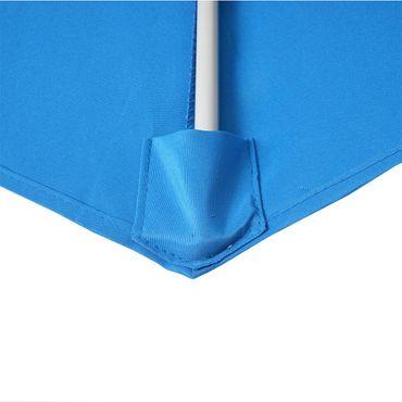 Alu-Sonnenschirm halbrund, Halbschirm Balkonschirm, UV 50+ 270cm blau ohne Ständer – Bild 8