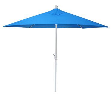 Alu-Sonnenschirm halbrund, Halbschirm Balkonschirm, UV 50+ 300cm blau ohne Ständer – Bild 4