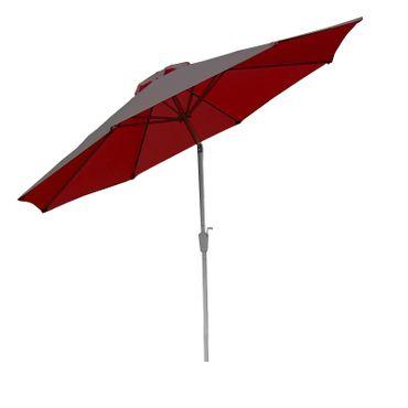 Alu Sonnenschirm Gartenschirm 300cm, neigbar, rostfrei rot – Bild 1