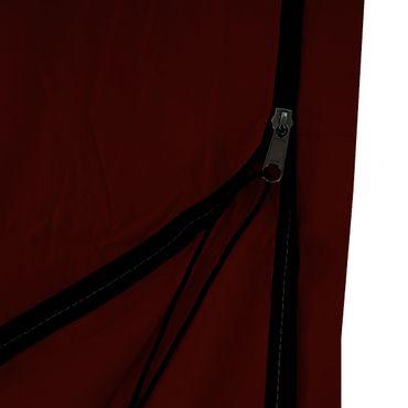 Schutzhülle für Ampelschirm bis 4,3 m (3x3 m), Abdeckhülle Cover mit Reissverschluss bordeaux – Bild 3