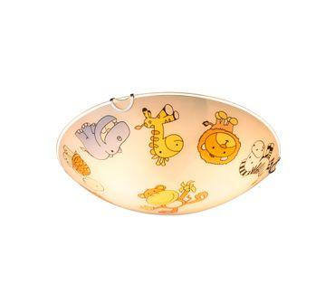 Deckenlampe KIDDY, Metall weiss, Glas multicolor, Globo 40607 – Bild 2