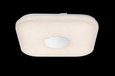 Deckenlampe FELION Metall weiss, Chrom, Acryl, dimmbar, Fernbedienung – Bild 8