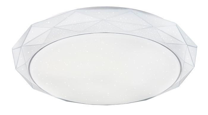 Deckenlampe ANDI, Metall weiss, Acryl satiniert, Globo 48304