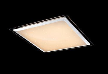 Deckenlampe RENA Metall weiss, Acryl opal, Chromring, dimmbar, Fernbedienung – Bild 6