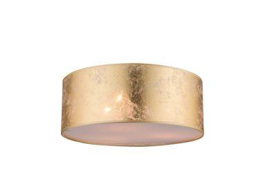 Deckenlampe AMY nickel matt, Kunststoff, Textil goldfarben, Acryl satiniert – Bild 1