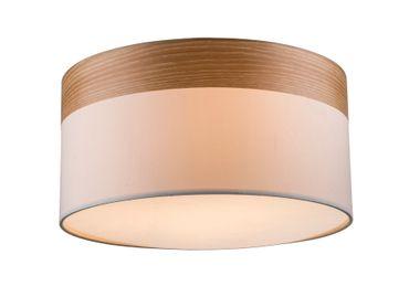 Deckenlampe CHIPSY, nickel matt, Holz, Textil beige, Globo 15221D – Bild 1