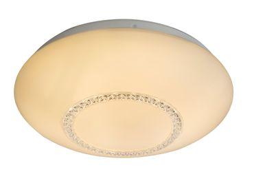 Deckenlampe MARTINA Metall weiss, Acryl opal, Acrylkristalle klar