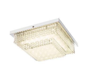 Deckenlampe CAKE I Chrom, Acryl, Kunststoff, Kristalleffekt, mit Effektfolie – Bild 2