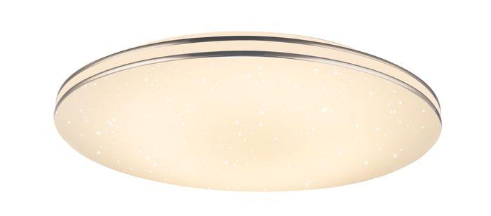 Deckenlampe PIERRE, Metall weiss, Kunststoff opal, Globo 48388-48