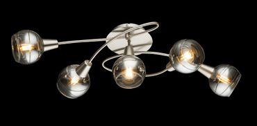 Deckenlampe ROMAN nickel matt, Glas rauch klar – Bild 2