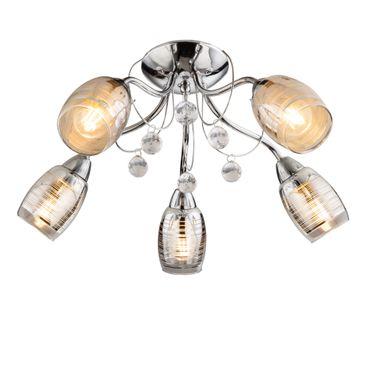 Deckenlampe LILLY I Chrom, Glas klar, Acrylkristalle klar, Lasercut – Bild 1