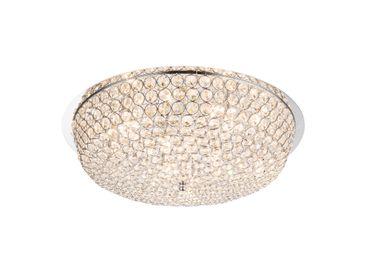 Deckenlampe EMILIA chrom, Chromgeflecht, K9 Kristalle klar – Bild 1