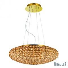 Kristall Hängelampe gold 7-flammig 46cm – Bild 1