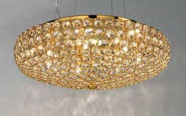 Kristall Hängelampe gold 7-flammig 46cm – Bild 2
