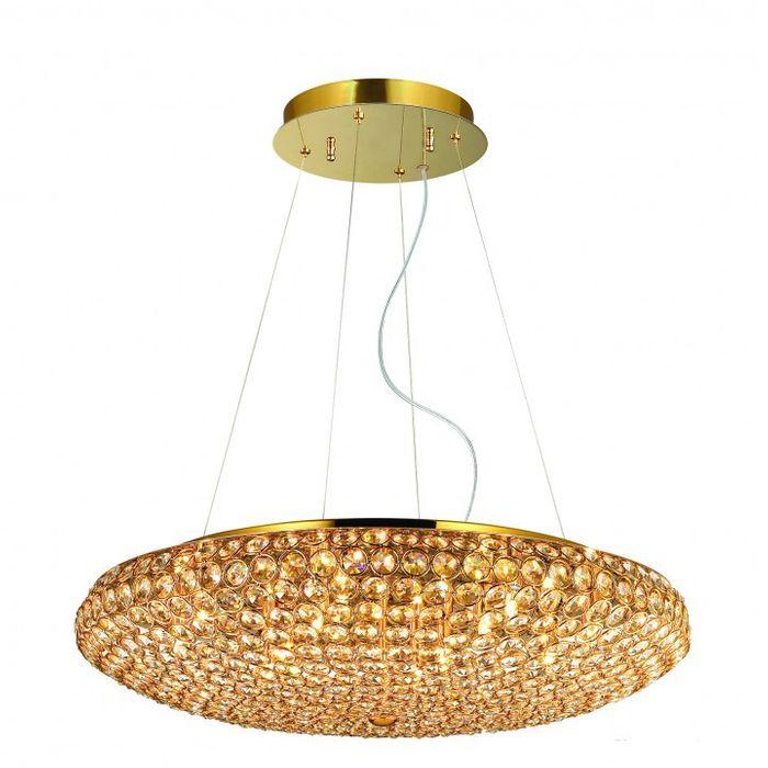 kristall h ngelampe gold 12flammig 65cm h ngelampen bleikristall. Black Bedroom Furniture Sets. Home Design Ideas